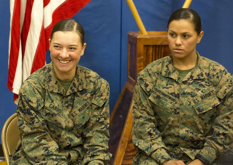 Female Marines to Sleep Next to Male Marines in Field